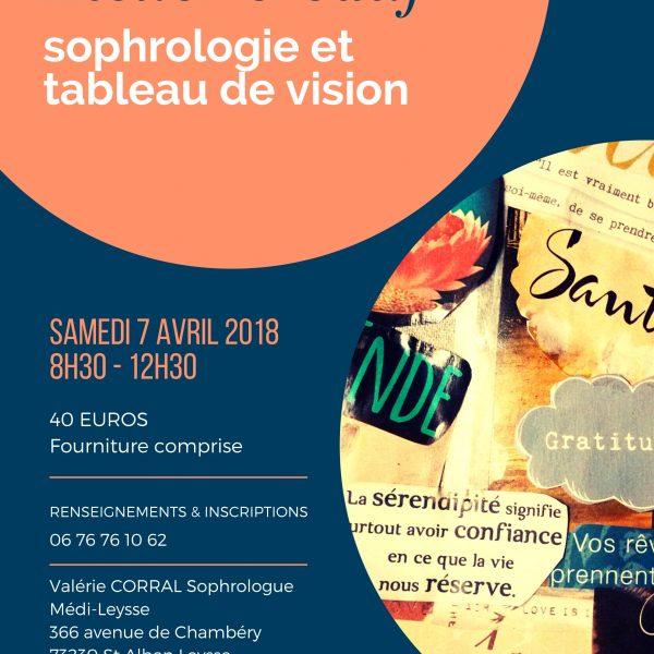 """Atelier """"Sophrologie et tableau de vision"""""""